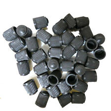 50Pcs Black Plastic Auto Car Truck Wheels Tire Valve Stem Cap Lid Air Dust Cover