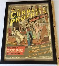 """JASON MRAZ THE CURBSIDE PROPHETS SIGNED TOUR BAND POSTER MOUNTED 22"""" X 17"""""""