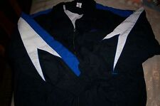NWT $50 SPEEDO MEN'S ATHLETIC NYLON SWIM  WATER RESISTANT JACKET LINED-BLUE-MED