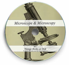 225 Rare Antique Microscope Books on DVD Histology Microscopy Slides Science F5