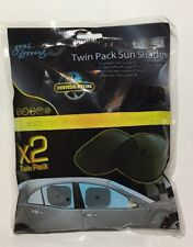 Twin Pack Sun Shades 2 x Foldable Car Window Protector Mesh Screen Baby Child