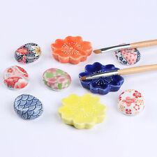 Nail Art Brush Pen Rack Ceramic Stand Holder Pebble Flower Manicure Tool Random