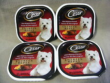 CESAR FILET MIGNON FLAVOUR ENTREES FOR SMALL DOGS  - 4 PACKAGES - 400 g
