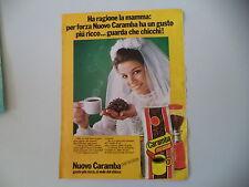 advertising Pubblicità 1977 CAFFE' CARAMBA