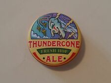 Cool Beer BUTTON Pinback ~ McMenamins Brewery Thundercone Fresh Hop Ale ~ OREGON