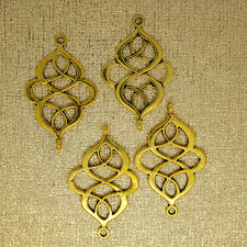 10 pc Beautiful Celtic Knot Gold Tone Connector For Bracelets/Earrings/Necklaces