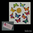 Transparent Film Butterfly #12 size 1 x 10 PRE-CUT 3D MIXED Scrapbooking CARDS