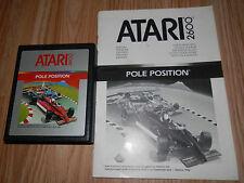 POLE Position Atari 2600 trasporto gioco con manuale 1983