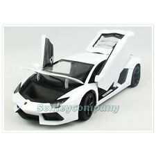 LAMBORGHINI AVENTADOR LP700-4 ROADSTER WHITE  1:18 BY RASTAR DIECAST CAR MODEL