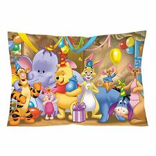 "DISNEY WINNIE THE POOH BIRTHDAY PARTY Zippered Pillow Case 16""x 24"" (Two Sides)"