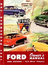 1951 Ford Owners Manual User Guide Reference Operator Book Fuses Fluids OEM