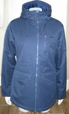 New Womens Navy Blue Nike Storm-Fit LIGHT Insulated Hooded Jacket SZ L LG $140