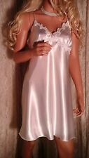 VINTAGE LINEA DONATELLA BABYDOLL NIGHTY XL WHITE PEIGNOIR  WHITE SATIN BRIDE