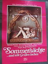 SOMMERNÄCHTE ...UND ALLE GRILLEN LACHEN - Filmplakat A1 - Simonetta Stefanelli