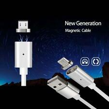 Easy Magnetic Micro USB Charger Charge Cable Adapter for Android Phone Silver LN
