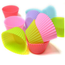 6 Pcs/Lot Multi-Color Silicone Cupcake Mold Round Shape Baking Mould Upspirit