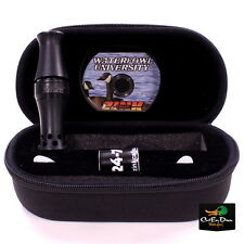 NEW FRED ZINK CALLS BLACK ACRYLIC CACKLER CANADA GOOSE CALL W/ CASE, BAND & DVD