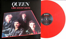 "Queen ""Greatest Hits"" Rare BRIGHT RED Color Vinyl LP UK Import Brand New"