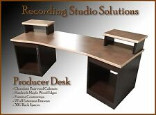 Recording Studio Desk (Chocolate Pearwood Finish w/ Maple Edge)