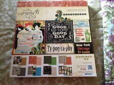"Graphic 45 ""TYPOGRAPHY"" 12"" x 12"" Scrapbook Paper Pad"