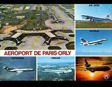 ORLY (94) AVIONS AIR INTER, ALITALIA, SWISSAIR, FINNAIR & LUFTHANSA à l'AEROPORT