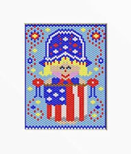 4Th Of July Baby~Large Pony Bead Banner Pattern Only