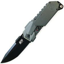 Smith & Wesson M&P M.A.G.I.C. Linerlock Knife Gray Handle Black Plain SWMP9B