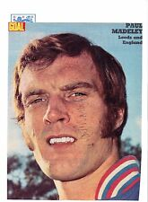 PAUL MADELEY ENGLAND INTERNATIONAL 1971-1977 ORIGINAL SIGNED PICTURE CUTTING