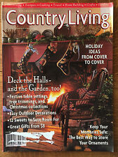 Country Living Magazine 1998 Christmas Decorations Recipes Vintage Snowmen