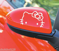 Hello Kitty Face Car Motor Rearview Mirror Decal Sticker 1 set of 2 pcs KK557
