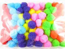 "70pcs 0.98"" Multicolor Glitter PomPom Balls Cat Kitten Pubby Toys High Quality"