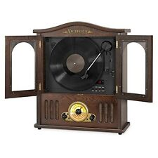 Victrola VTA-25 Wood Wall Mount Record Player with CD and Bluetooth Mahogany