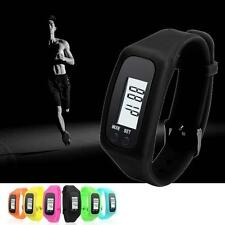 Digital LCD Pedometer Calorie Counter Run Step Walking Distance Watch Black