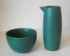 ARABIA OF FINLAND,  24h Green Sugar Bowl & Pitcher Design H. Orvola Excellent
