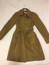 Women's Michael Kors Wool Trench Coat (Camel)- Small