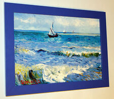 "VINCENT VAN GOGH ""Seascape at Saintes-Maries"", 1888, framed, CANVAS PRINT"