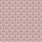 Dolls House Miniature Pale Red Clam Shell Wallpaper