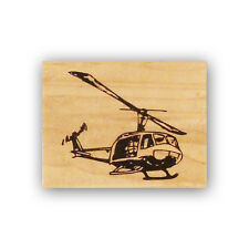 Huey Helicopter mounted rubber stamp, army chopper, UH-1, military CMS#4
