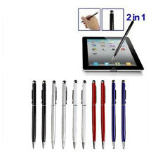 10Pcs 2 in 1 Touch Screen Stylus Gel ink Ballpoint Pen for iPhone iPad Samsung