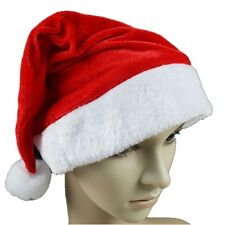 Christmas Cap Thick Ultra Soft Plush Santa Claus Holiday Fancy Dress Hat JL