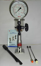 "Diesel Injector Nozzle Pop Tester - 200 Bar, SS Body, 6"" dial, Gly. Filled Gauge"
