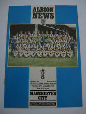 West Bromwich Albion v Manchester City 1976/77 FA Cup Replay Programme