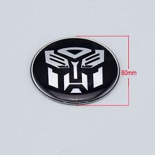 1x Transformer Autobots Auto Car Tyre Wheel Centre Caps Cover Emblem Decals 60mm