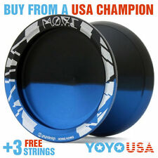 C3yoyodesign M.O.V.E MOVE Finger Spin Metal Yo-Yo Blue / Black + FREE STRINGS