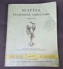 Telephone Directory Seattle Washington and Vicinity 1954 Phone Book Yellow Pages
