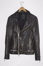 ** superbe ** xs allsaints homme conroy cuir perfecto xs cargo
