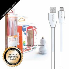 USB Lightning Charger Cord 8 Pin Sync Data Cable Car Charger for iPhone Tablet