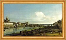 View of Dresden with the Frauenkirche at Left Kirche Bellotto Sachsen B A3 00860