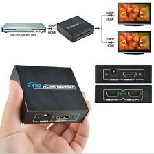 HDMI Splitter Amplifier 2 Output 1 Input 2 Way Switch for HDTV 1080P PS3 PS4 3D