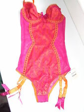 AGENT PROVOCATEUR RARE ORANGE ABRACADABRA BODY TEDDY SIZE MEDIUM UK 10-12 BNWT